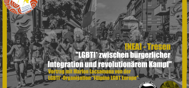 """Diskussionsveranstaltung: """"LGBTI* zwischen bürgerlicher Integration und revolutionärem Kampf"""""""